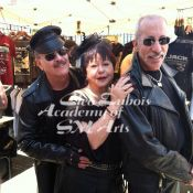 Cleo Dubois with Master Skip and his slave at Dore Alley