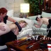 Happy BDSM! Minax demonstrates spanking at an Academy of SM Arts Women's Intensive