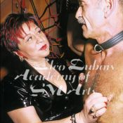 Cleo Dubois demonstrating nipple torture with bottom Greg, in her award winning educational documentary, The Pain Game