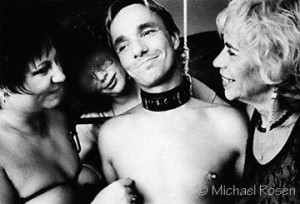 Cleo Dubois, with friends, from the early days of her journey into BDSM